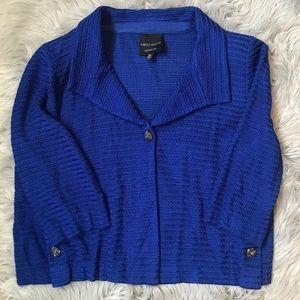Ming Wang Sapphire Royal Blue Blazer Jacket